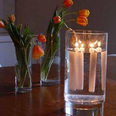 Floating Taper Candles via @artofdoingstuff