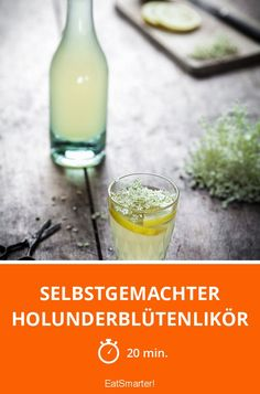 Selbstgemachter Holunderblütenlikör - smarter - Zeit: 20 Min. | eatsmarter.de