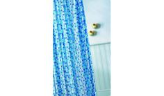 Croydex Blue Mosaic PVC Shower Curtain Main Picture