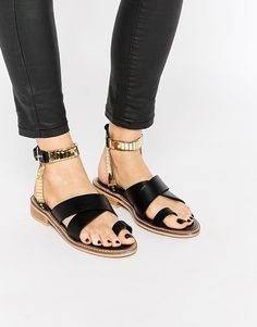 Image 1 ofASOS FLY BY Western Flat Sandals