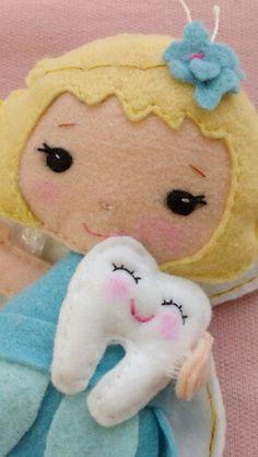 Fadinha fairy feltro felt dente tooth