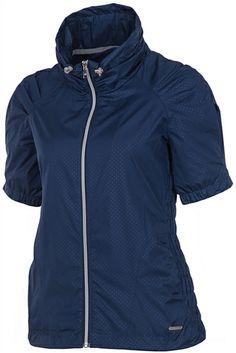 SUNICE Sophia Short Sleeve Wind Jacket Midnight | #Golf4Her