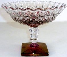 Westmoreland Glass Company | vintage westmoreland glass company waterford pattern crimped rim ...