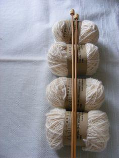 habu raw cotton with bamboo needles