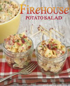 Firehouse Potato Salad with BACON. Yum