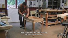 Tea Table Building Process by Doucette and Wolfe Furniture Makers