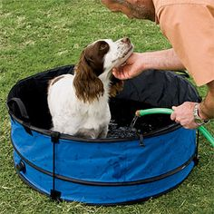 High Quality Outdoor Portable, Collapsible Dog Bathtub    Leave The Mess .