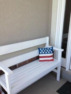 This is what im thinking minus arms and back just plain bench porch bench do it yourself home projects from ana white solutioingenieria Choice Image