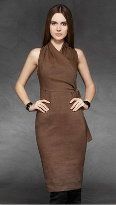Fine draping and tailoring.  If you have beautiful shoulders and arms, consider this silhouette.  (Dress by Sarah Pacini.)