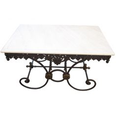 Reproduction French Marble Top Pastry Table Pastries Country Cottage