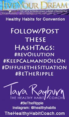These are some of the hashtags being used for convention. Whatever social media you follow or post to use these #'s and they will be posted to a common page for all to see. Sometimes a new hashtag gets created during a convention so check my Healthy Habit Coach on Facebook page for updates - https://www.facebook.com/thehealthyhabitcoach