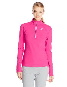 Asics Women's Thermal XP Extra Protection 1/2 Zip Top >>> You can get more details by clicking on the image.