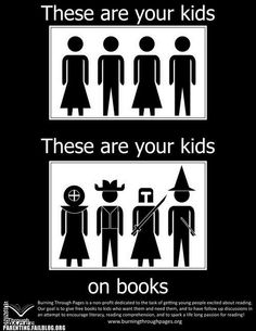 These are kids on books.