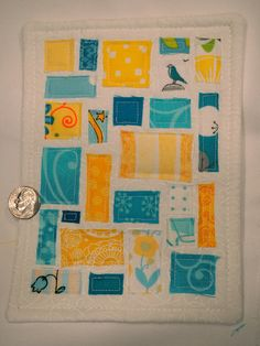 A Ticker Tape card!  Monica quilt TOTT by karens creations, via Flickr