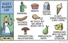 Alice's Allergy List, by Tom Gauld
