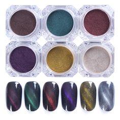 2g 3D Cat Eye Magnet Nail Powder Magic Magnetic Glitter Dust UV Gel Manicure Nail Art Pigment Decoration