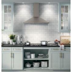 GE 36 in. Convertible Chimney Range Hood in Slate, Fingerprint - The Home Depot Kitchen Hoods, Kitchen Reno, Kitchen Backsplash, New Kitchen, Kitchen Design, Kitchen Cabinets, Kitchen Appliances, Kitchen Ideas, Beech Kitchen