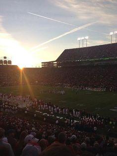 Sunset at the Iron Bowl.