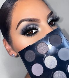 This grayscale palette is a glam smokey eye lover's dream. With 3 glitzy metallics and 6 matte eyeshadows, create the easiest smokey eyes ever. Colourpop Eyeshadow, Colourpop Cosmetics, Eyeshadow Makeup, Neon Eyeshadow, Eyeshadow Ideas, Colorful Eyeshadow, Makeup Brush, Skin Makeup, Eyeshadow For Green Eyes
