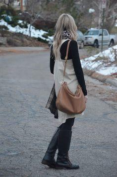 dress + turtleneck