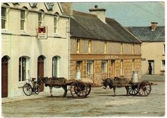 Milk Delivery in Ballyduff Kerry Irish Cottage, Cottage Interiors, Ancestry, Vintage Photos, Ireland, Milk, Delivery, Explore, Places