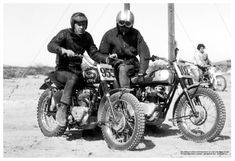 Steve McQueen motorcycle race. He continued to do these races even when he was the highest paid actor in Hollywood.  <3