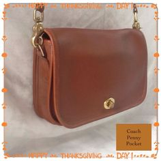 VTG Coach Penny Pocket 9755 British Tan Leather Crossbody Excellent Condition! in Clothing, Shoes & Accessories, Women's Handbags & Bags, Handbags & Purses | eBay