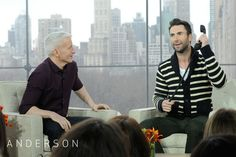 Adam Levine plays with the Pop Phone Anderson gave him as a thanks for appearing on the show.    See Anderson's interview with Adam on Monday, February 27.