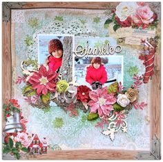 Made by Bente Fagerberg for the Blue Fern Studios DT using the 'Vintage Christmas' line.