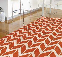 Arlo AR07 Chevron Orange Rugs | Modern Rugs