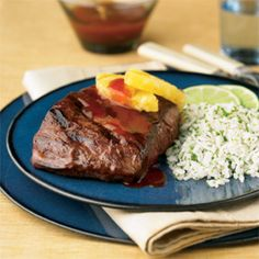 Latin Steaks with Sweet & Smoky BBQ Drizzle