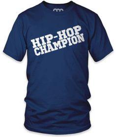 Hip- Hop Champion Short-Sleeve T-Shirt, Lapis, L