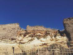 Layered cliffs in #anzio