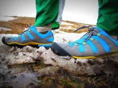 Perfect for Ocoee...A glove-like feel, at 8.2 oz, they are flexible enough to allow easy maneuverability, yet stiff enough to allow you stability on uneven, rocky streambeds. #keen