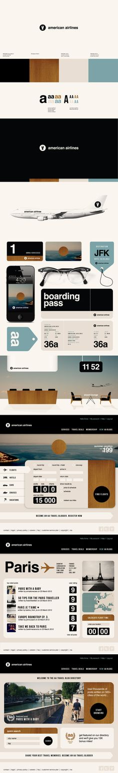 Experimental Re-brand of American Airlines - by Anna Kövesces