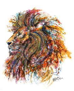 Emily Tan's vibrant creature portraits perfectly encapsulate the beauty of the animal kingdom. The colorful animal paintings or sketch-like drawings pop on Colorful Animal Paintings, Colorful Animals, Nature Animals, Wild Animals, Lion Vector, Oeuvre D'art, Framed Art Prints, Flower Art, Amazing Art