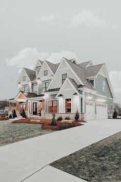 Dream House Interior, Luxury Homes Dream Houses, Dream Home Design, My Dream Home, House Design, Dream Life, Br House, Casas The Sims 4, Cute House