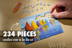 The Worlds Smallest Jigsaw Puzzle comes with tweezers to help with the tiny pieces. $5.99