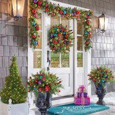 Christmas Wreath | Christmas Garland | Christmas Tree Garland | Grandin Road