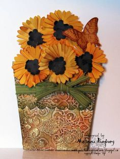 Flower Pot Card Closed by melissabanbury - Cards and Paper Crafts at Splitcoaststampers