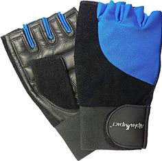 Premium Leather Workout Gloves for Gym Fitness and Crossfit Training Blue Small *** Learn more by visiting the image link.(This is an Amazon affiliate link and I receive a commission for the sales)