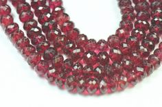 18 4mm to 6mm Red Spinel faceted beads roundelles by ShangrilaGems
