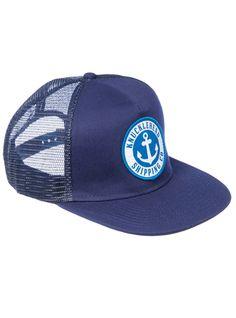 The Anchor Trucker - Navy 5 panle snap-back trucker cap.