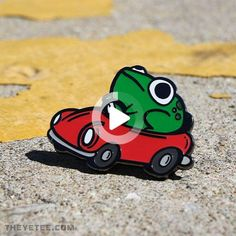 The Yetee #cars #luxurycars Cute Sticker, Arte Indie, Arte Do Kawaii, Frog Art, Cute Frogs, Frog And Toad, Cool Pins, Pin And Patches, Kermit