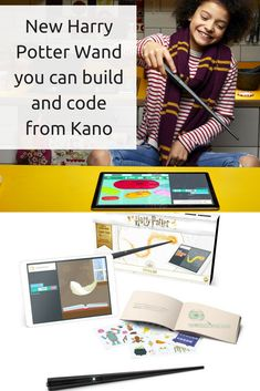 Brand new Harry Potter wand just announced from Kano. The Harry Potter Kano Coding Kit will allow you to code your very own spells! Teaching Kids To Code, Harry Potter Wand, Stem For Kids, Wands, Playing Cards, Coding, Education, Learning, Gifts