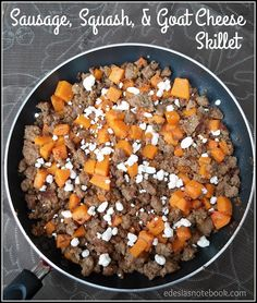 Sausage, Squash, and Goat Cheese Skillet