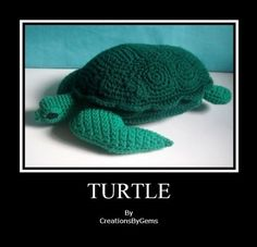 Turtle med PDF Crochet Pattern by by GemCreations on Etsy, $6.00