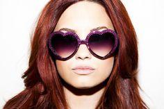 Demi Lovato in MARIALIA Swarovski sunglasses, photo by Tyler Shields She Was Beautiful, Beautiful People, Demi Lovato Heart Attack, Tyler Shields, Demi Lovato Style, Swarovski Sunglasses, Rose Colored Glasses, Shes Perfect, Poses