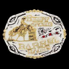 Fivela 3 Tambores Fundo Branco - Master 18462