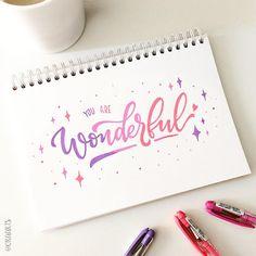 You're wonderful!